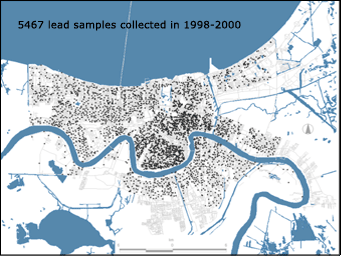 New Orleans Lead Sample Area