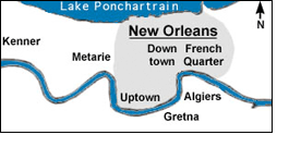 New Orleans Map of Lead Distribution